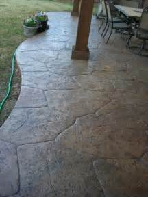 sted concrete patio much cheaper than flagstone or pavers and looks just as good