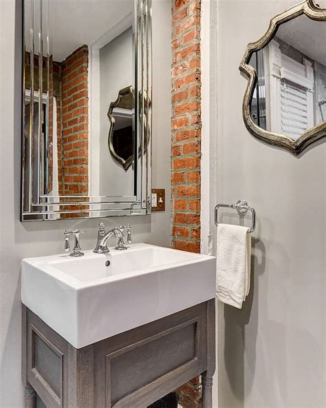 brick in a bathroom rugged and ravishing 25 bathrooms with brick walls