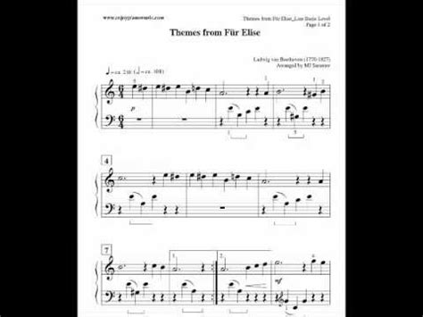 fur elise sheet   kids  beginners  piano late