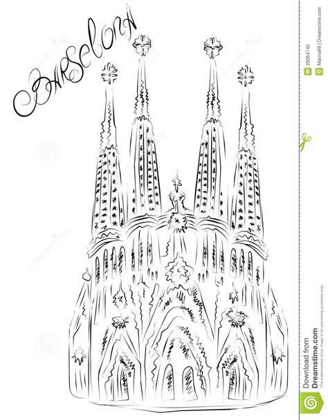 Casa Batllo Floor Plan by La Sagrada Familia Barcelona Spain Foto De Stock
