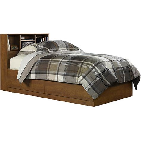 walmart storage bed mainstays twin storage bed hazelwood walmart com