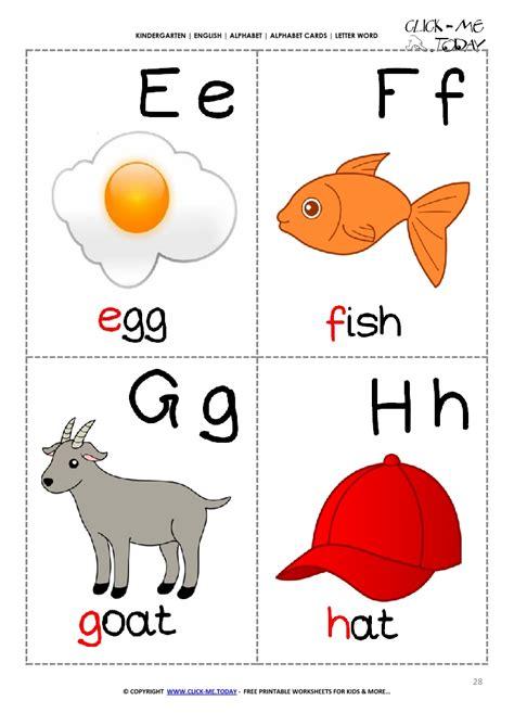 printable english flashcards english alphabet picture flashcard e f g h