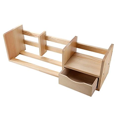 Wood Desktop Shelf by Unfinished Wood Desktop Bookshelf Organizer