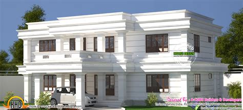 kerala home design flat roof white decorative flat roof home kerala home design and