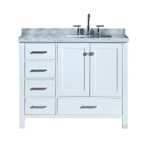43 bathroom vanity top ariel cambridge 43 in bath vanity in white with marble