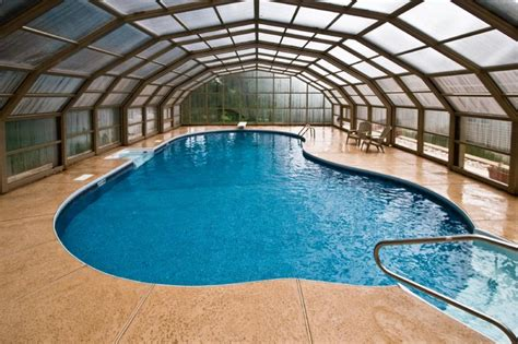 enclosed pools stunning enclosed nj backyard swimming pool