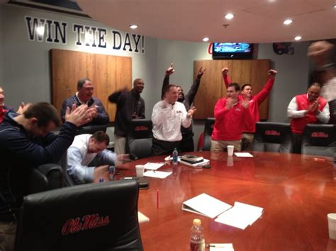 football war room photo ole miss war room is a happy place to be cbssports