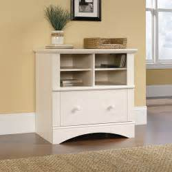 Cabinet For Printer by Sauder Harbor View Printer Stand And File Cabinet White