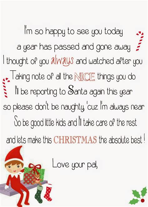 printable elf story it s a mom s world our elf on the shelf north pole