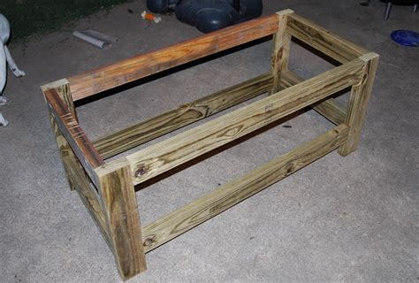 homemade storage bench ana white beefed up outdoor storage bench diy projects