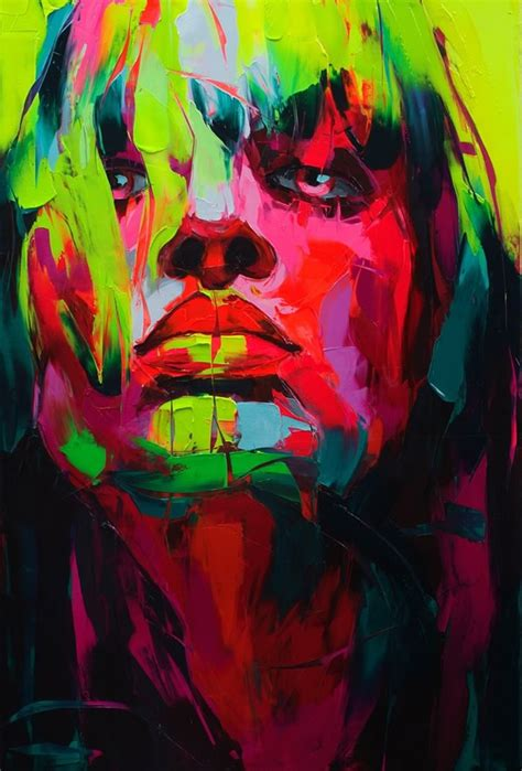 paint colorful explosive colorful portraits paintings
