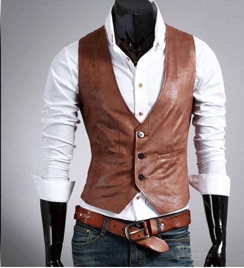 paper bag cowboy vest pattern men s leather western vest on storenvy