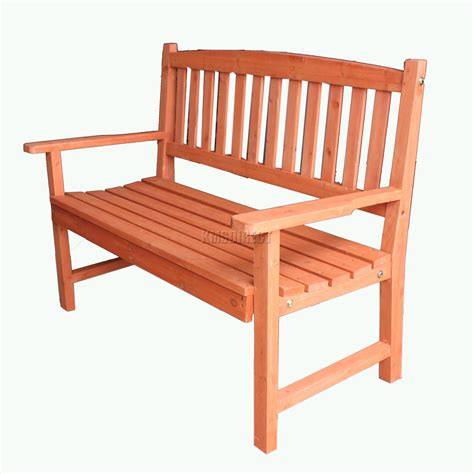 bench seat wood foxhunter outdoor wooden garden bench 2 seat seater