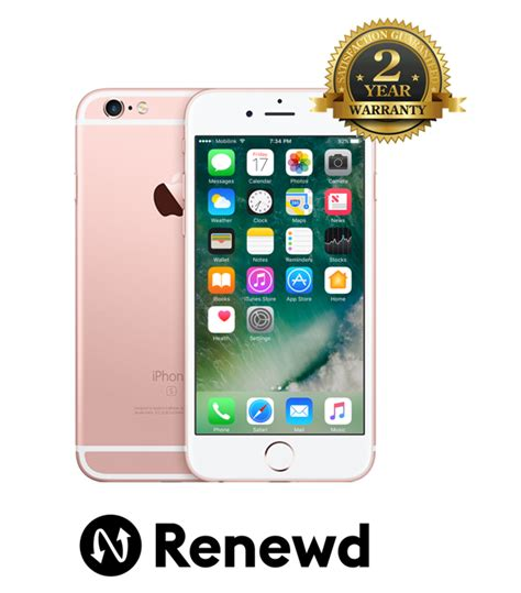telefon mobil renewd apple iphone 6s 64gb gold pret avantajos ideall ro