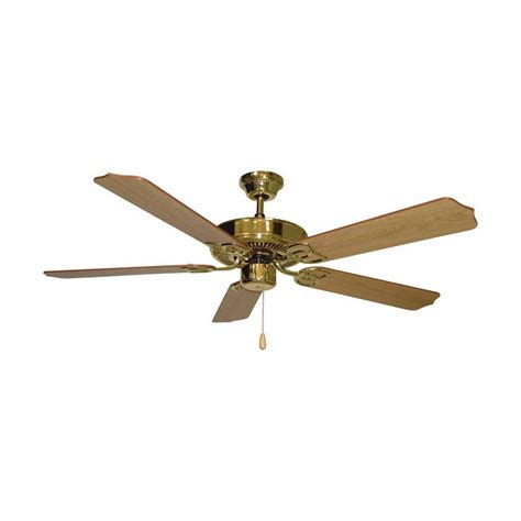 polished brass ceiling fans shop volume international minster 52 in polished brass