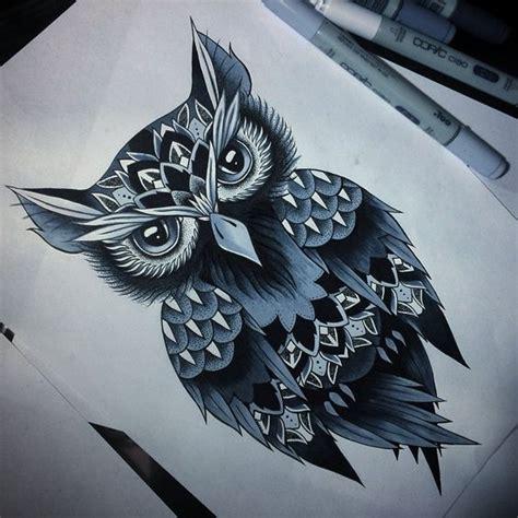 new school owl tattoo charming new school owl design tattooimages biz