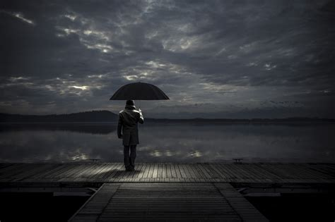 1280x1024 alone man with umbrella 1280x1024 resolution hd