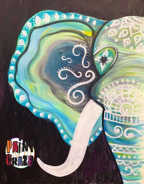 paint nite elephant henna elephant painting at nc paintcraze