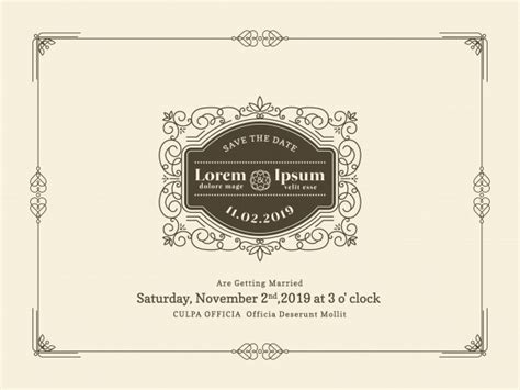 Wedding Invitation Card Border by Vintage Wedding Invitation Card Border And Frame Design