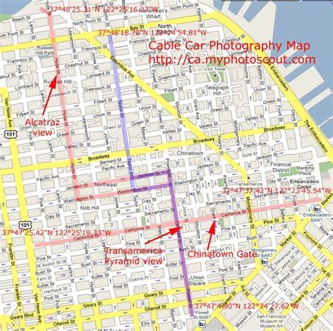 cable car map cable car map amerika san francisco