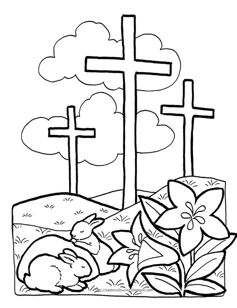 Easter Colouring Religious Easter Coloring Pages Coloring Pages For Church
