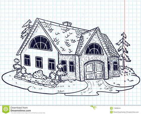 doodle house doodle house stock vector image of outdoors nature