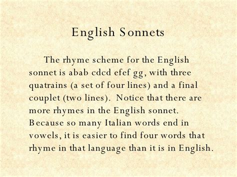 the sonnets and a the sonnet