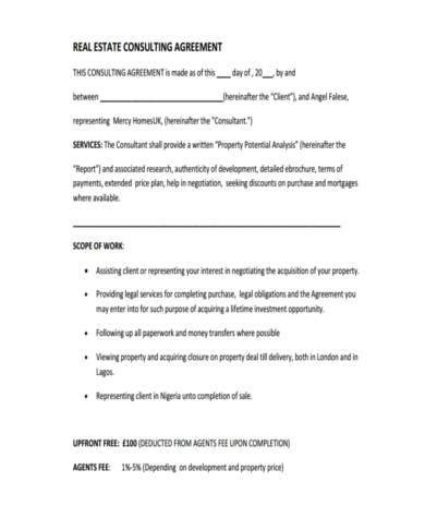 consulting agreement forms consulting agreement form sles 8 free documents in