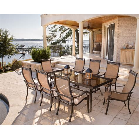 9 table set monaco 9pc dining set with 8 dining chairs and an xl glass