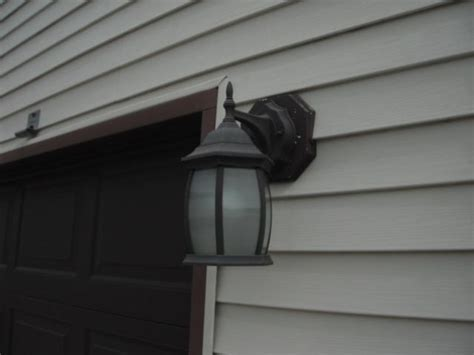 exterior light mounting block exterior light fixture is missing a vinyl mounting block