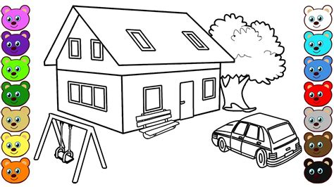 3d coloring pages 3d house courtyard coloring pages for