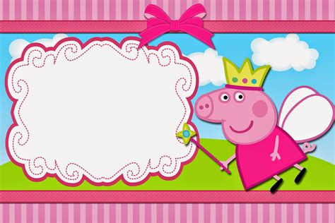 printable peppa pig party decorations peppa pig fairy free printable invitations oh my