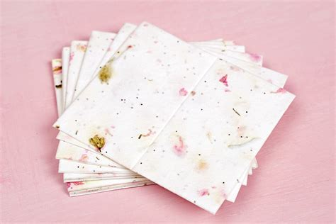 Handmade Place Cards - handmade blossom seeded place cards 16pk