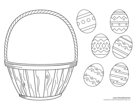 free printable easter coloring pages crafts easter basket template easter basket clipart easter craft
