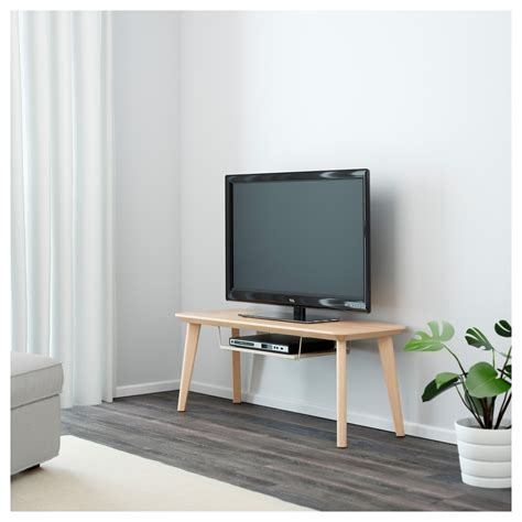 tv media bench lisabo tv bench ash veneer 114x40 cm ikea