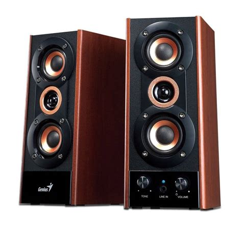 Speaker Genius genius sp hf800a 20w wooden speakers fierce pc