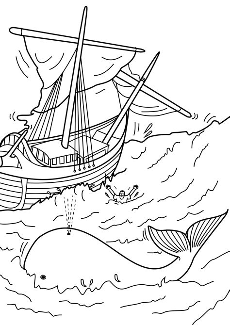 free coloring pages of story of jonah