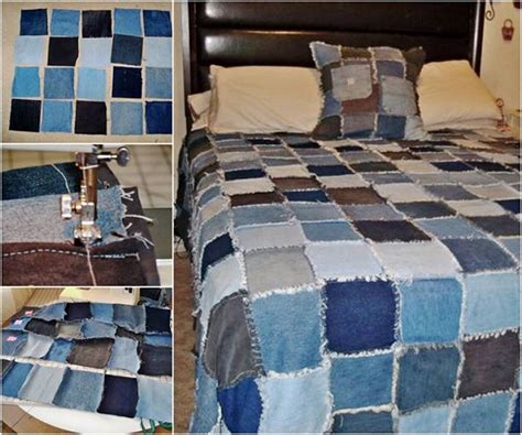 wonderful diy denim rag quilt from
