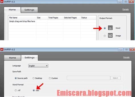 converter pdf ke word gratis cara merubah file pdf ke word dengan unipdf gratis