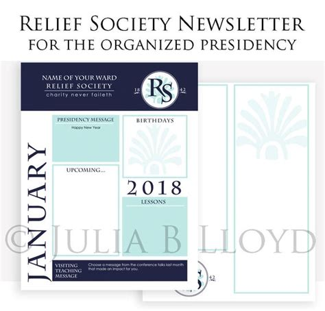 Newsletter Template Lds Relief Society Presidency Organized Relief Society Newsletter Template Free