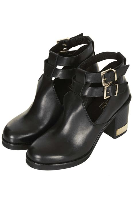 topshop all yours ankle boots in black lyst