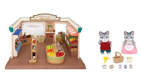 Sylvanian 2813 Supermarket Owners sylvanian families supermarket and owners bundle animals playsets george at asda