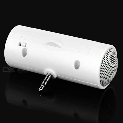 3 5mm Portable Mini Speaker White portable mini 3 5mm speaker for mobile phones