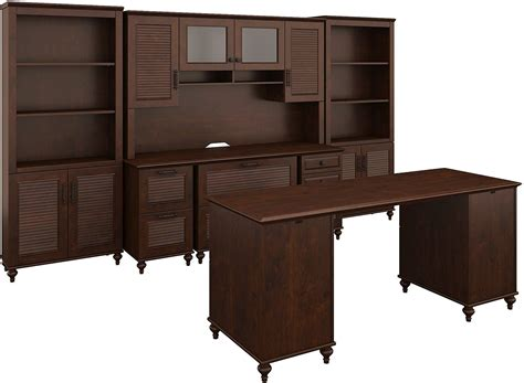 Cherry Home Office Furniture Volcano Dusk Coastal Cherry Home Office Set From Bush Coleman Furniture