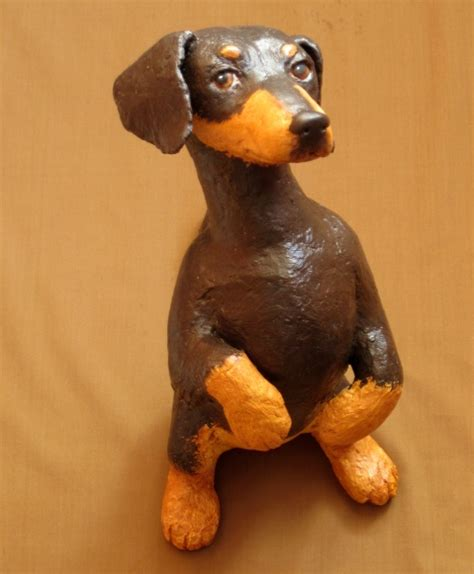 Make Animal Sculptures With Paper Mache Clay - 15 best paper mache dogs images on diy paper