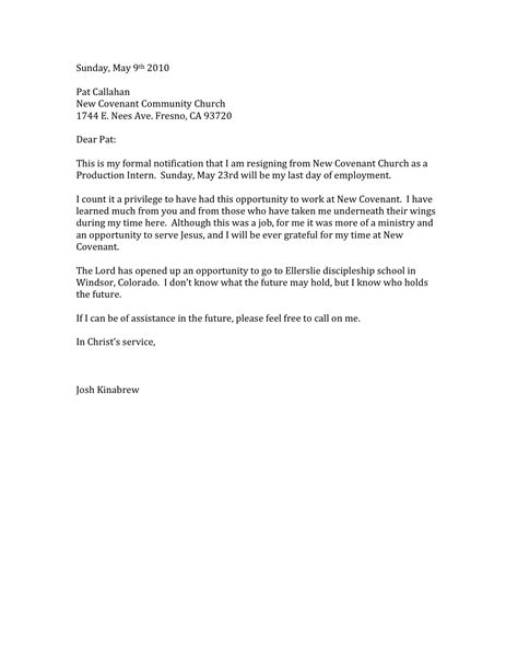 I Resign Letter by Resignation Letters Pdf Doc
