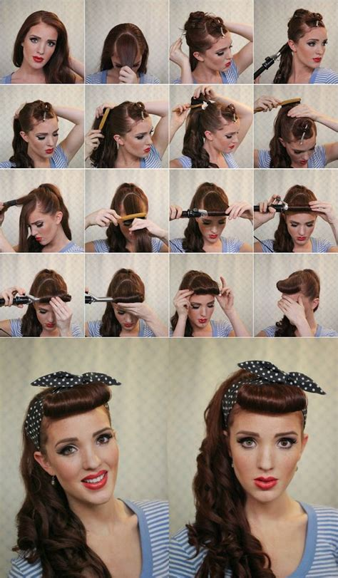 retro hairstyles with headband tutorial 9 retro updos that will bring out your inner pin up girl