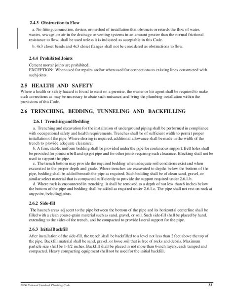 Release Letter National Code national standard plumbing code