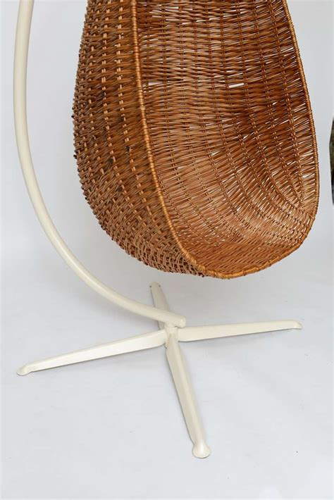 hanging wicker chair hanging wicker egg chair image 9