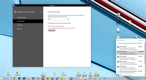 install windows 10 notification windows 10 tech preview gets its first big update one